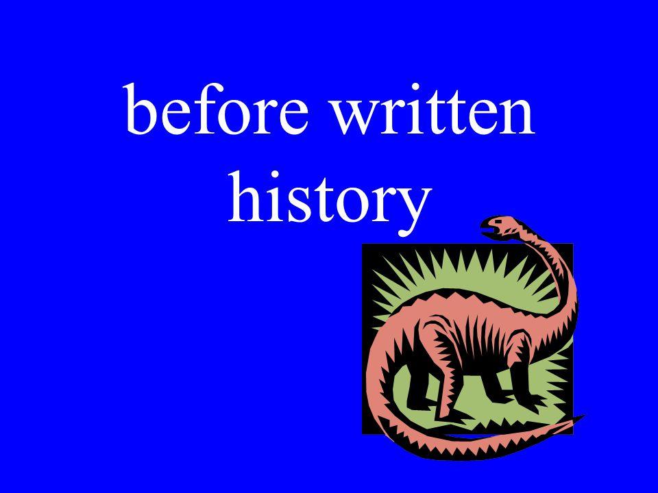 before written history