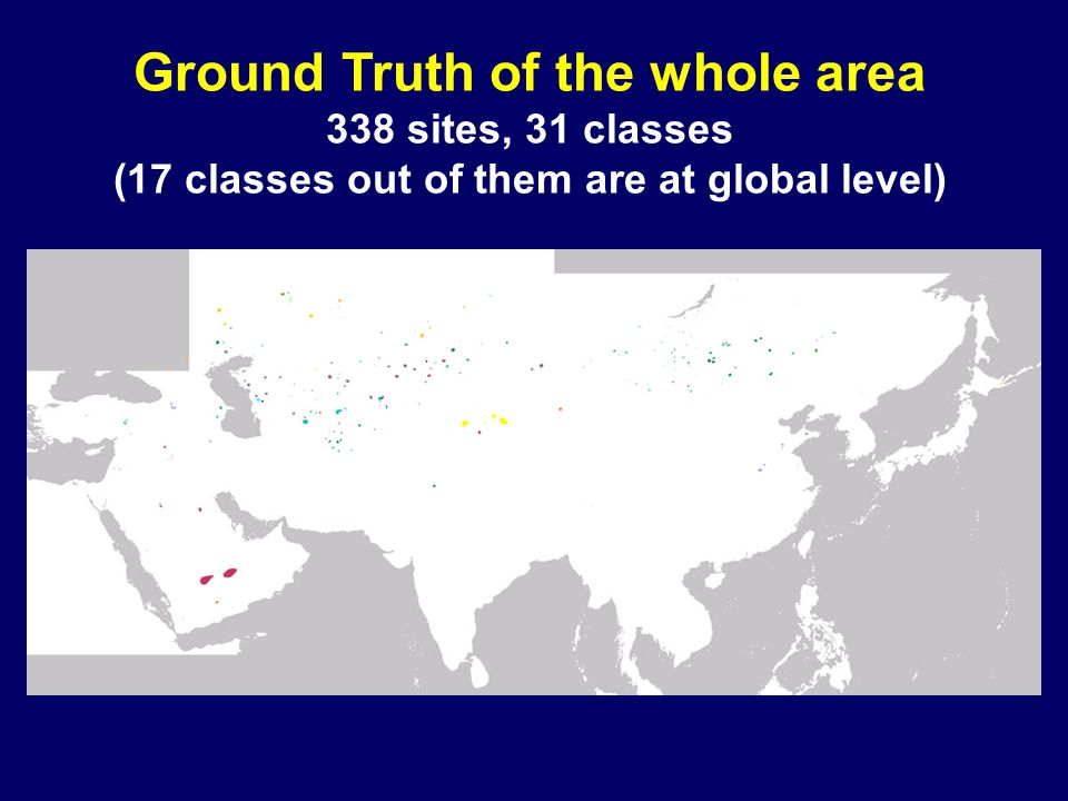Ground Truth of the whole area 338 sites, 31 classes (17 classes out of them are at global level)