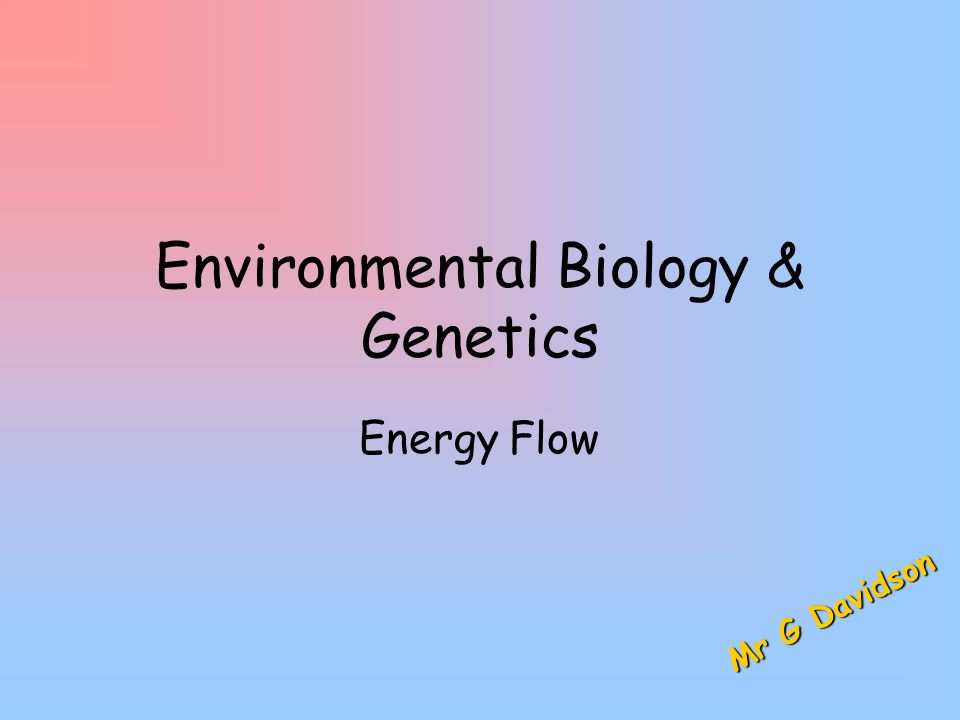 Saturday, April 18, 2015Saturday, April 18, 2015Saturday, April 18, 2015Saturday, April 18, 20152Mr G Davidson Ecosystems  An ecosystem is a natural unit composed of living organisms and their non-living environment, e.g.