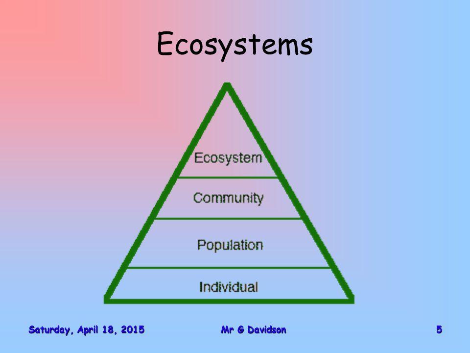 Saturday, April 18, 2015Saturday, April 18, 2015Saturday, April 18, 2015Saturday, April 18, 20155Mr G Davidson Ecosystems