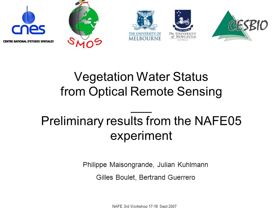 NAFE 3rd Workshop 17-18 Sept 2007 R2 sensitivity to the time lag between field VWC and satellite measurements