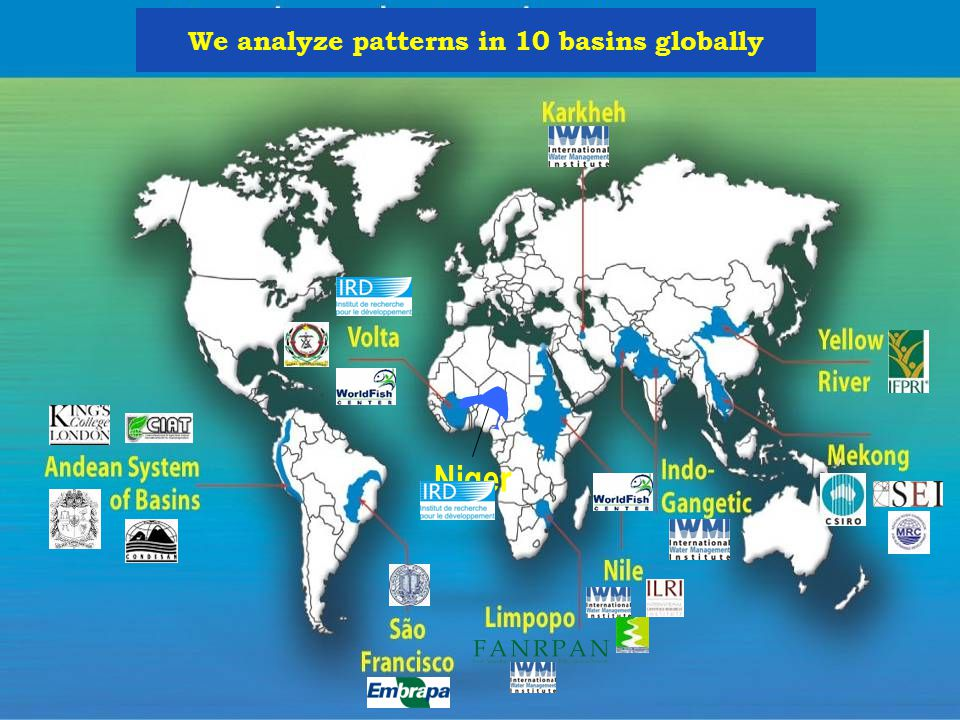 Niger We analyze patterns in 10 basins globally