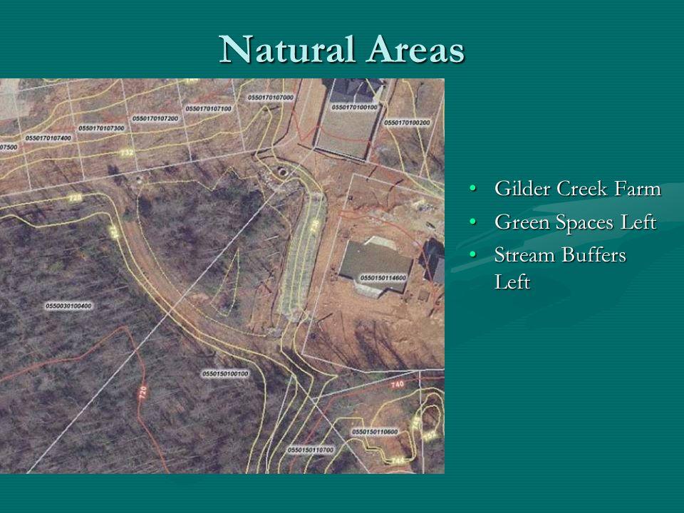 Natural Areas Gilder Creek Farm Green Spaces Left Stream Buffers Left