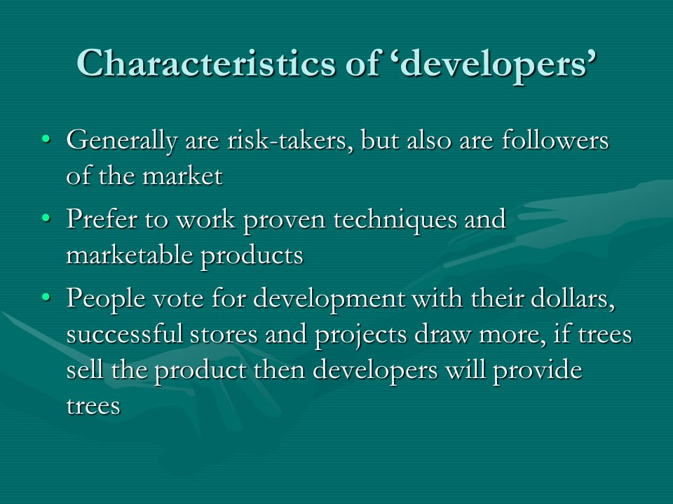 Who is developing.