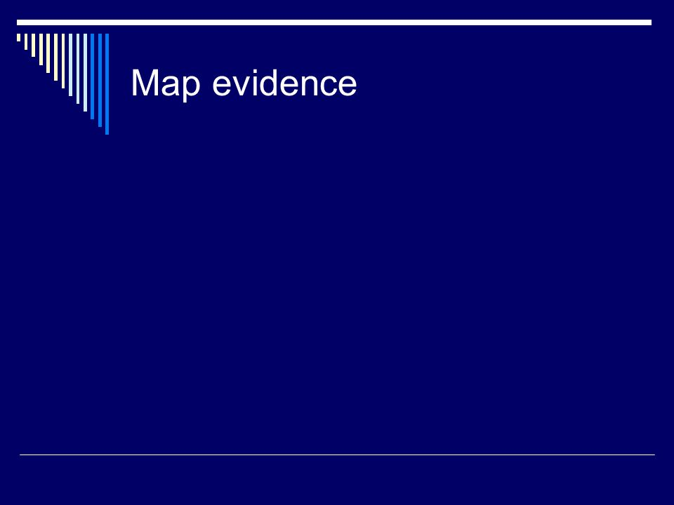 Map evidence