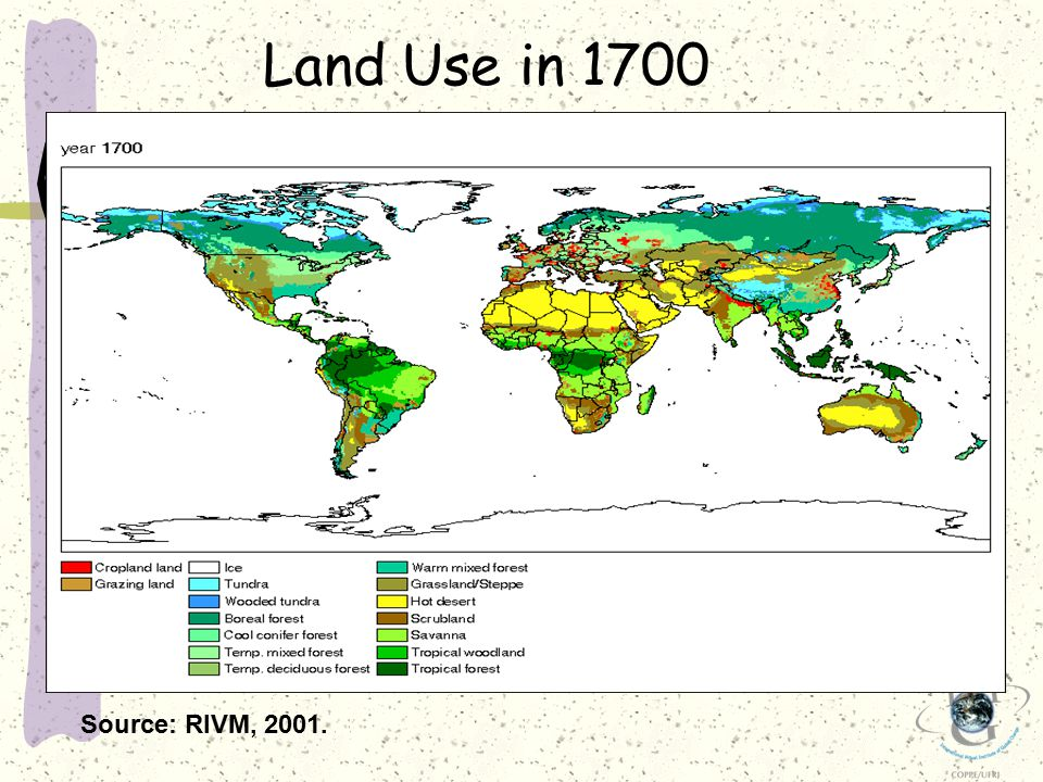 Source: RIVM, 2001. Land Use in 1700