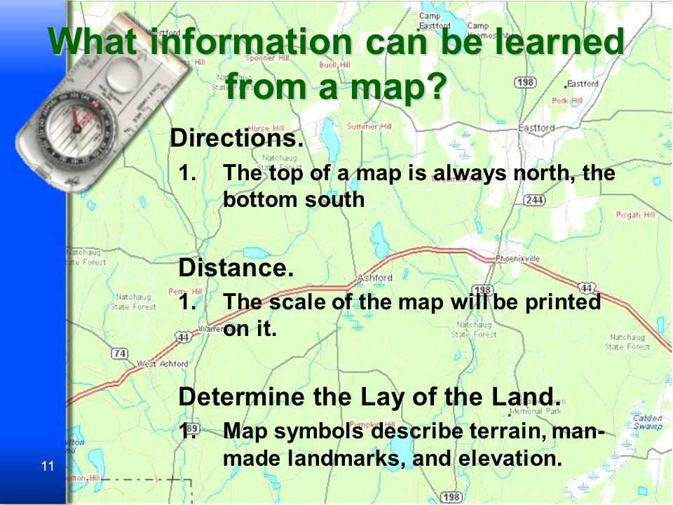 10 D.The most useful maps for hiking are called Topographic Maps.
