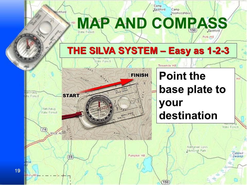 18 MAP AND COMPASS Map Problem It's July.