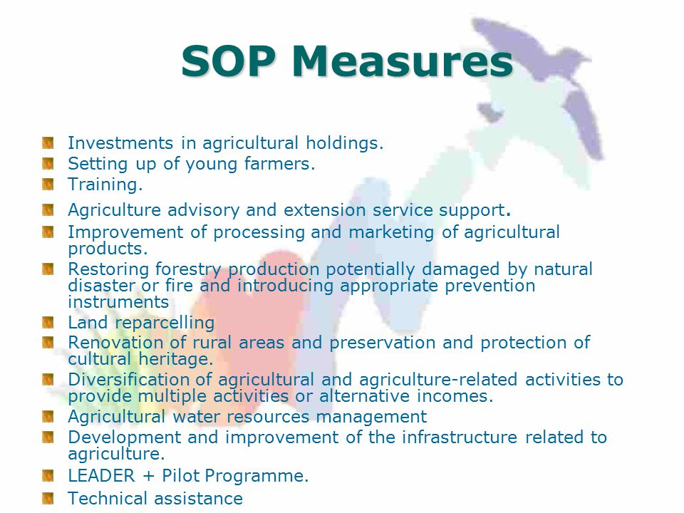 SOP Measures Investments in agricultural holdings.