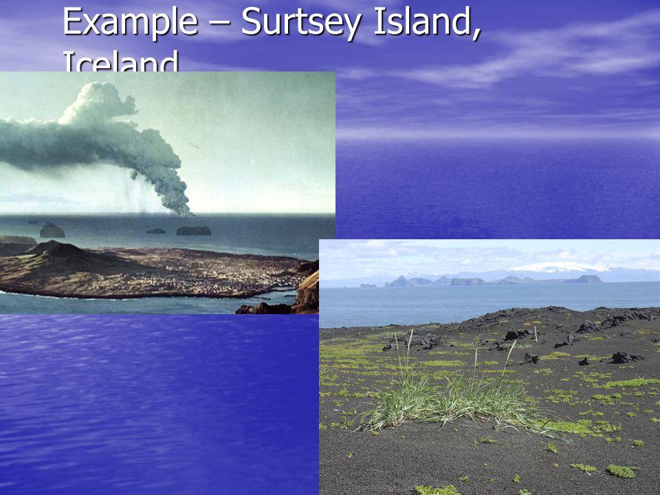 Example – Surtsey Island, Iceland