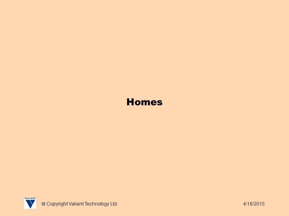 4/18/2015  Copyright Valiant Technology Ltd Homes