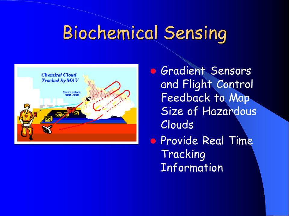 Biochemical Sensing Gradient Sensors and Flight Control Feedback to Map Size of Hazardous Clouds Provide Real Time Tracking Information