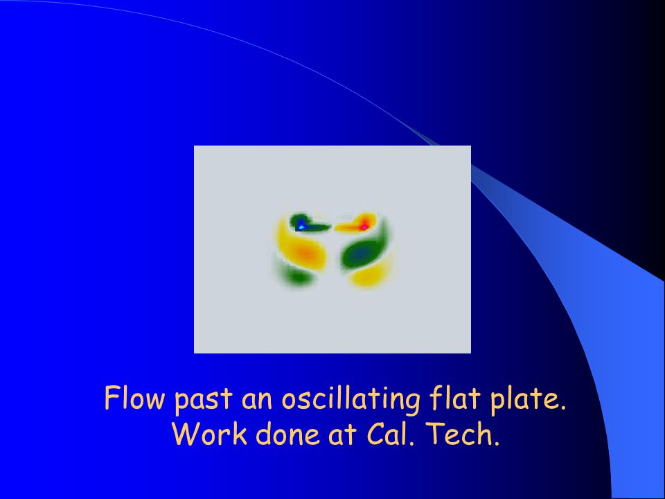 Flow past an oscillating flat plate. Work done at Cal. Tech.