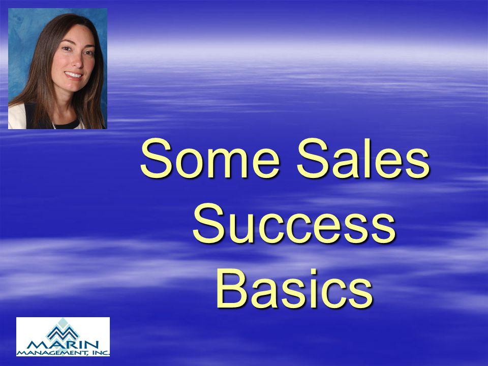 Some Sales Success Basics