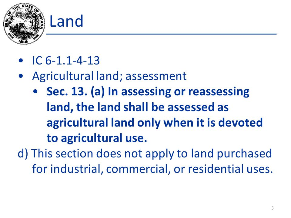 Land Establishing Land Values – Assessor Delivery 4)A designated depth table standard, if using the front foot method.