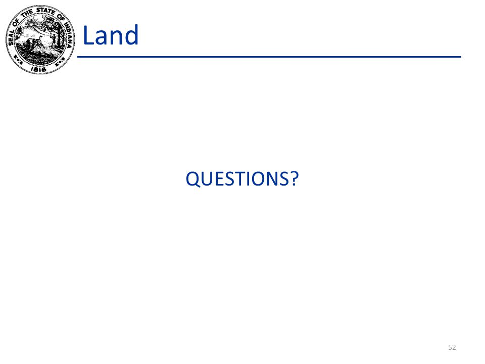 Land QUESTIONS 52