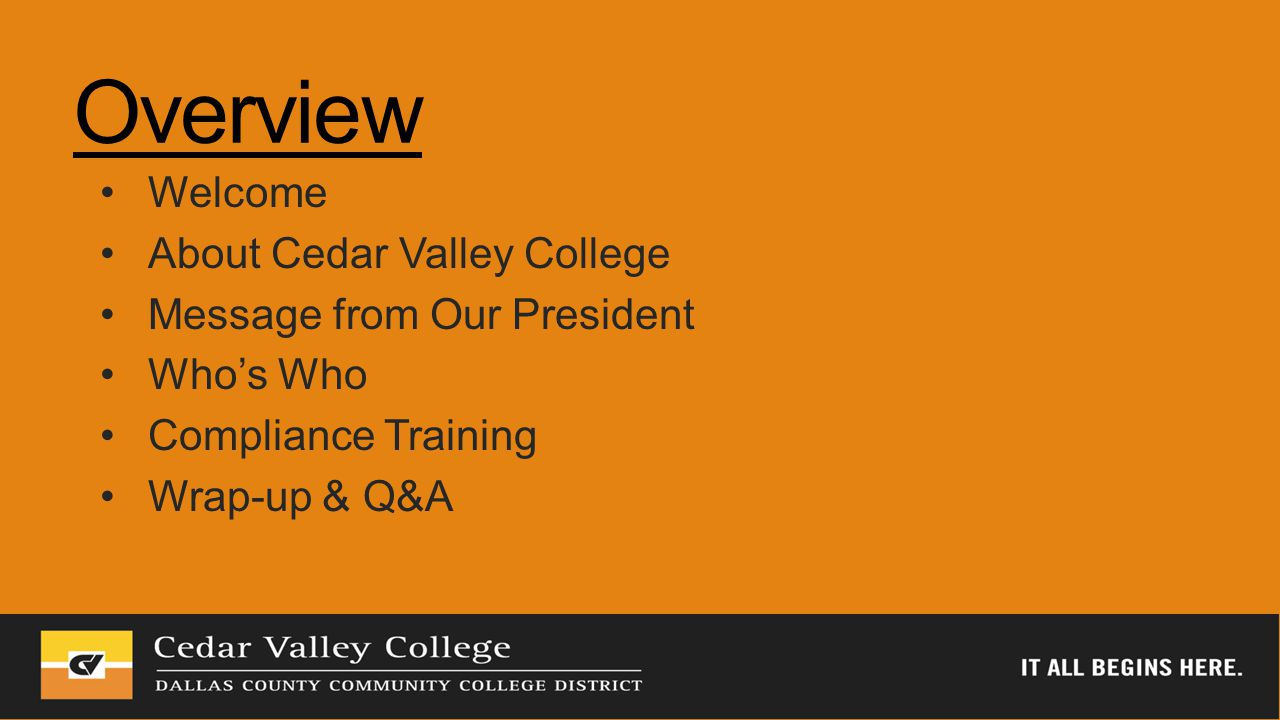 Tell us about you Name Department How long you have been with CVC Where did you work before CVC?