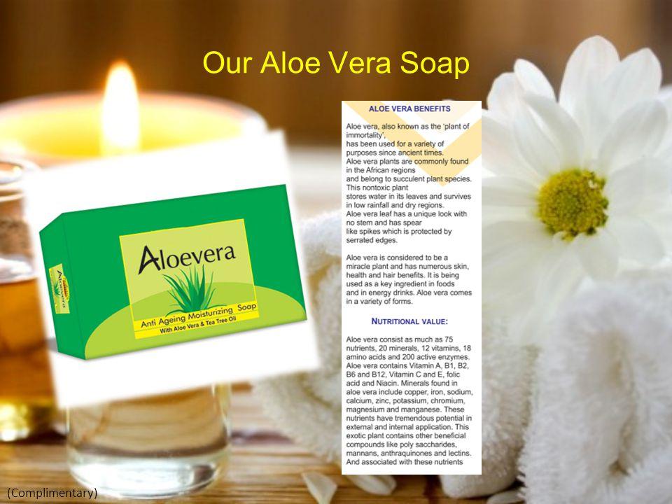 Our Aloe Vera Soap (Complimentary)