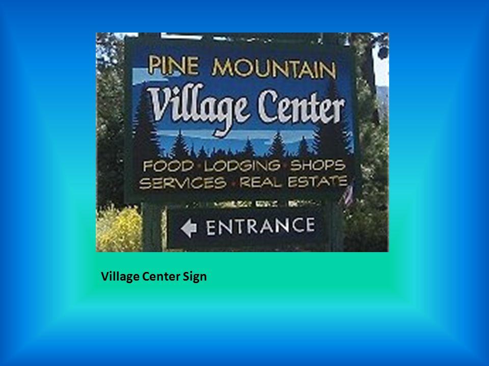 Village Center Sign