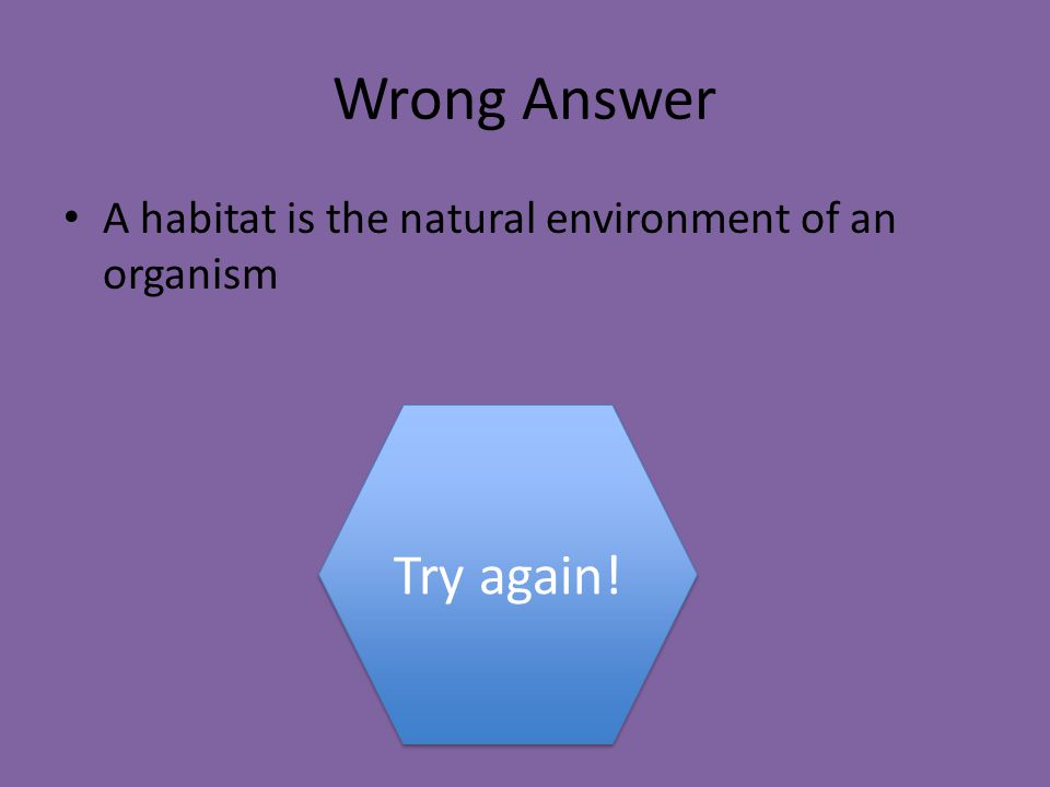 What is the definition of a habitat.