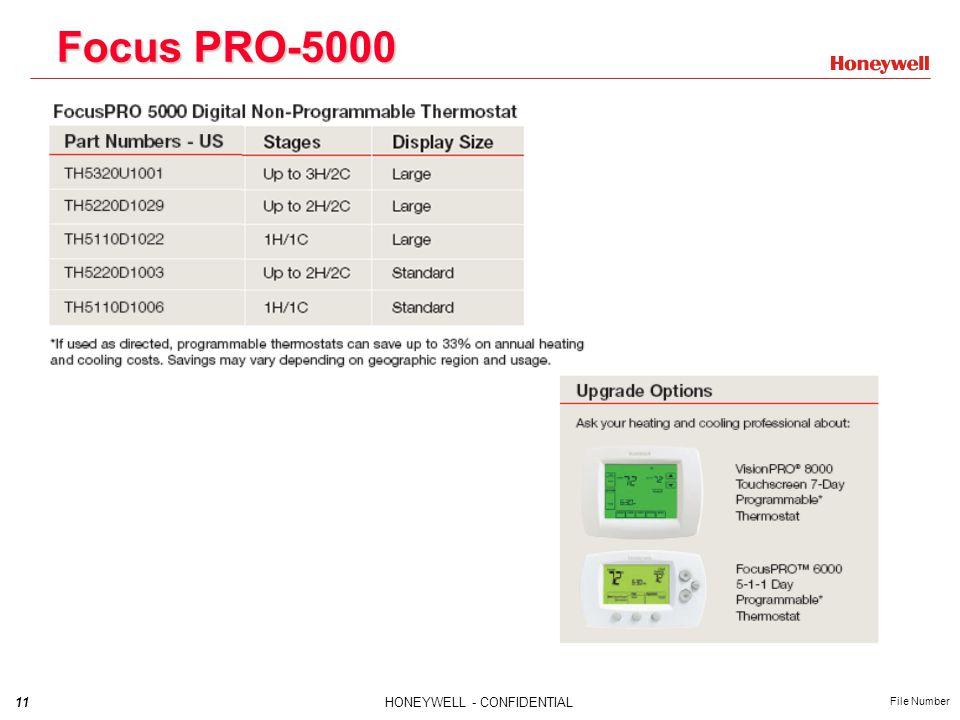 11HONEYWELL - CONFIDENTIAL File Number Focus PRO-5000