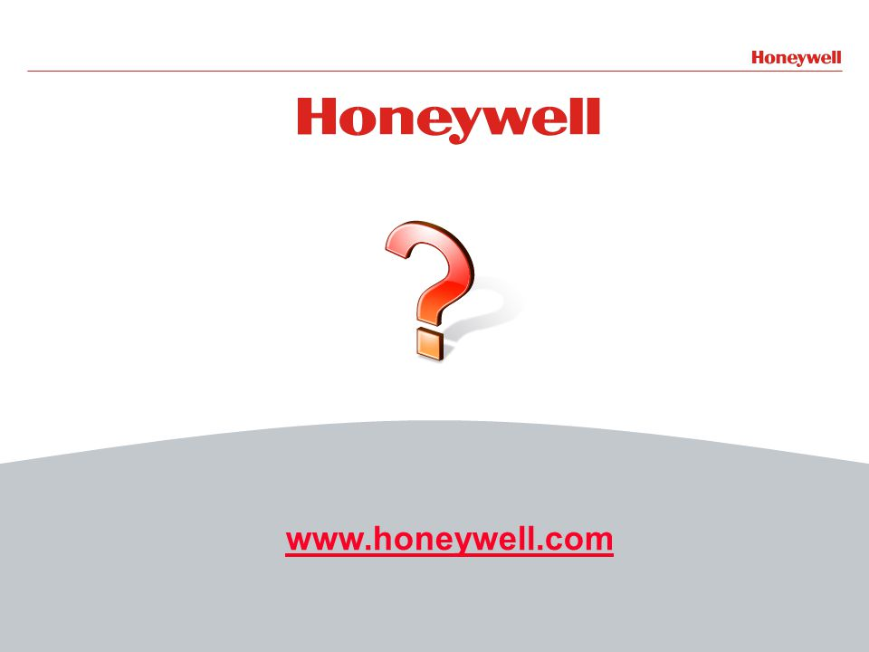 27HONEYWELL - CONFIDENTIAL File Number www.honeywell.com