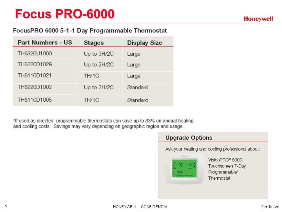 9HONEYWELL - CONFIDENTIAL File Number Focus PRO-6000