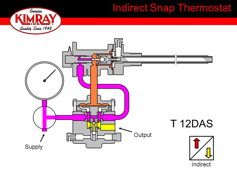 Indirect Snap Thermostat T 12DAS Output Supply Indirect