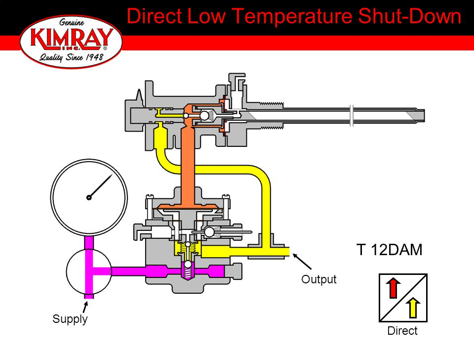Direct Low Temperature Shut-Down T 12DAM Output Supply Direct