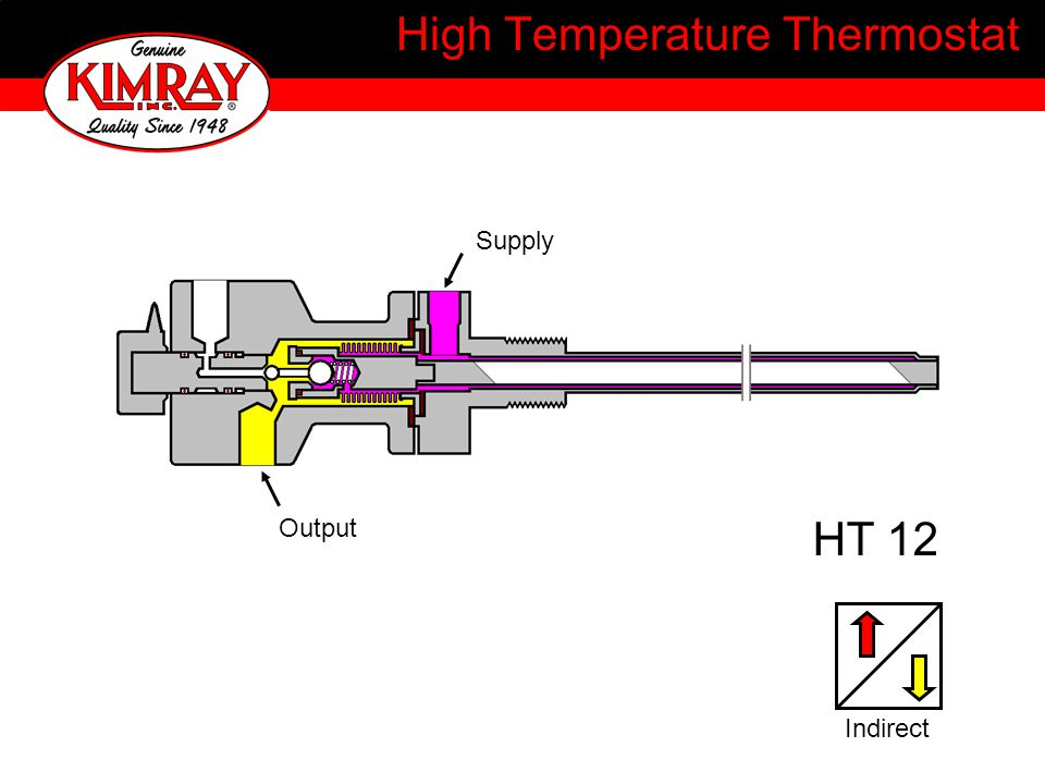 High Temperature Thermostat HT 12 Output Supply Indirect