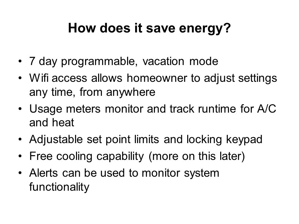 How does it save energy.