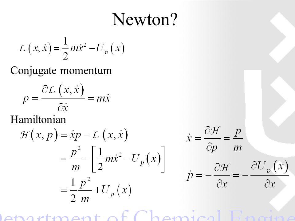 Newton Conjugate momentum Hamiltonian