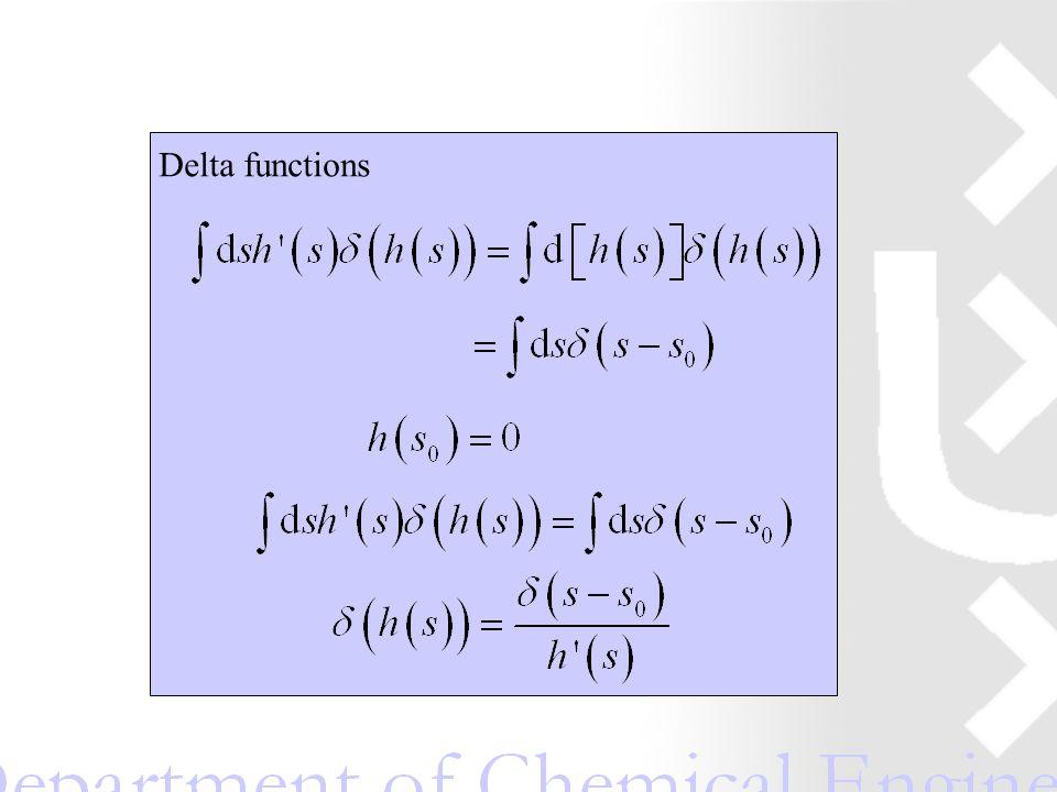 Delta functions