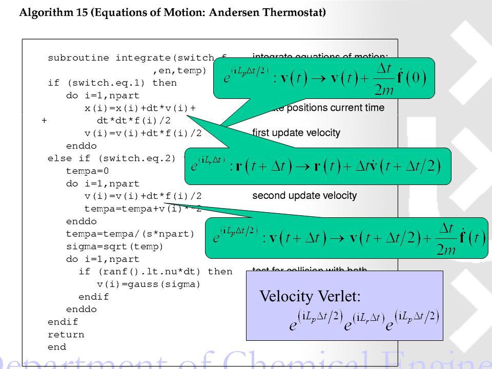 Velocity Verlet: