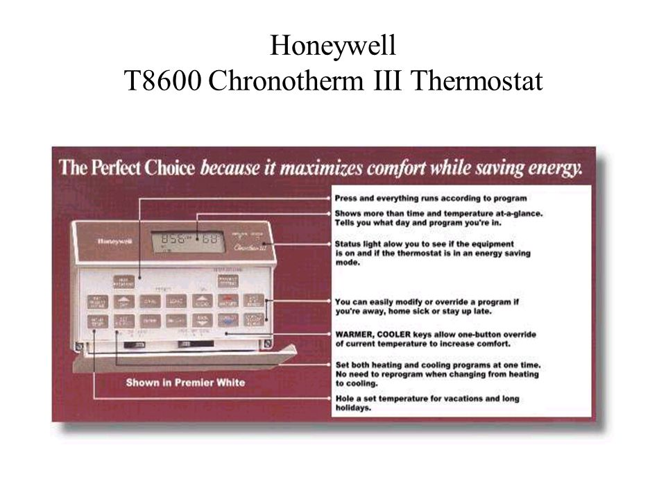 Honeywell T8600 Chronotherm III Thermostat