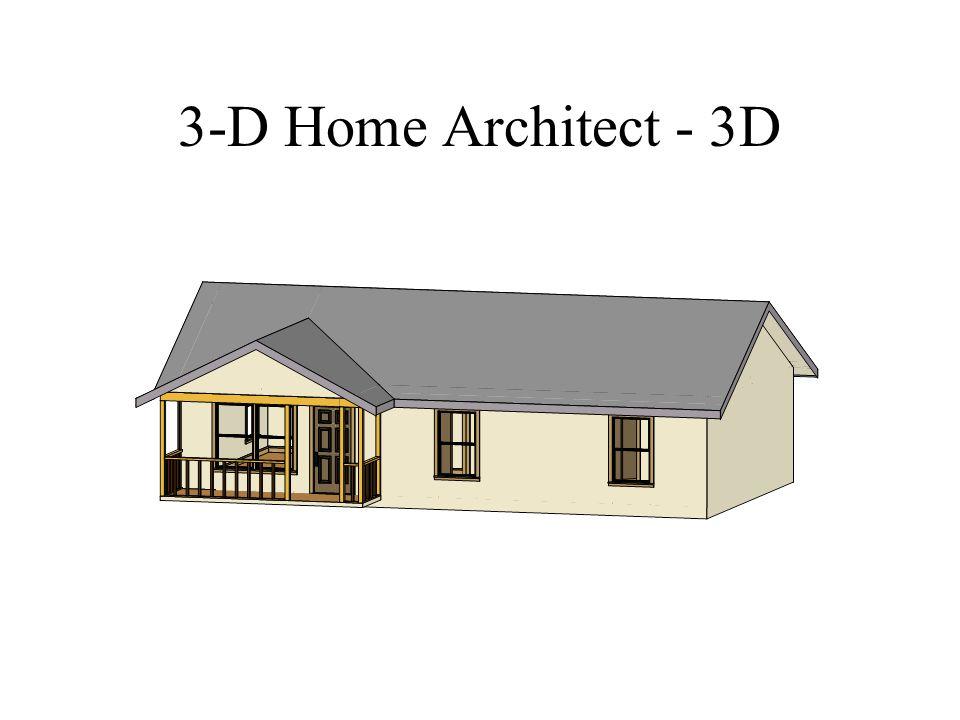 3-D Home Architect - 3D