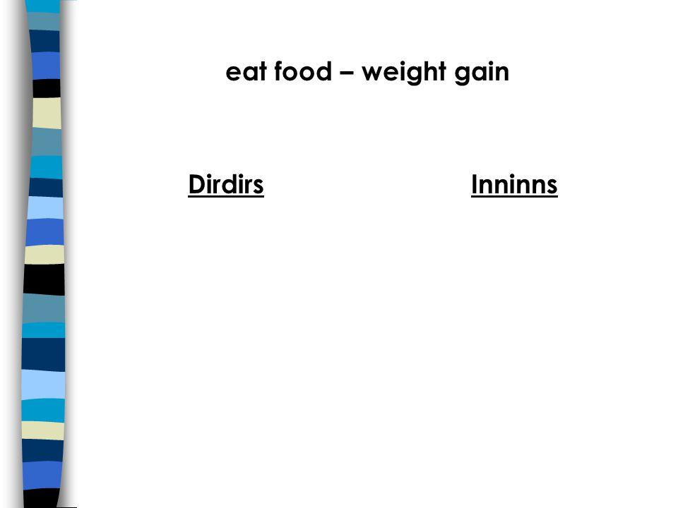 eat food – weight gain DirdirsInninns