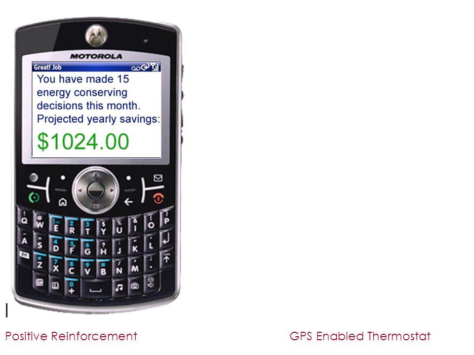 Positive ReinforcementGPS Enabled Thermostat
