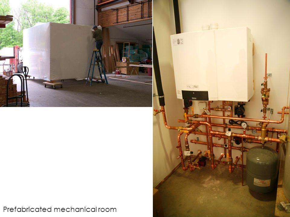 Prefabricated mechanical room