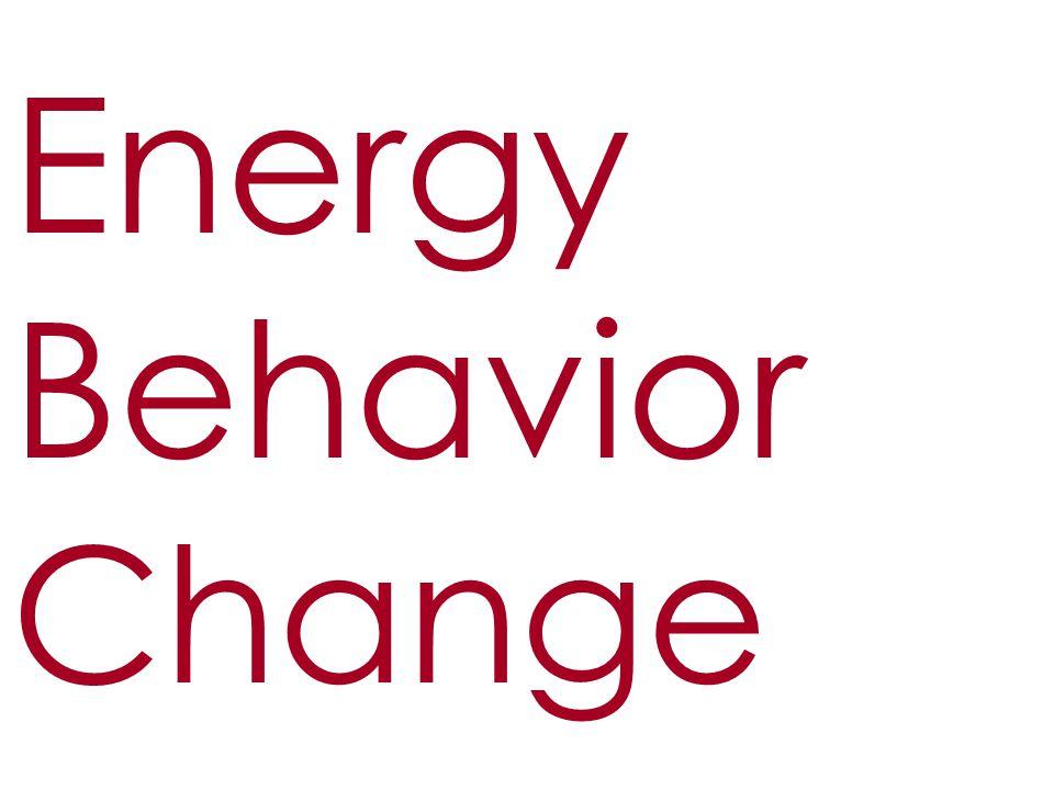 Energy Behavior Change