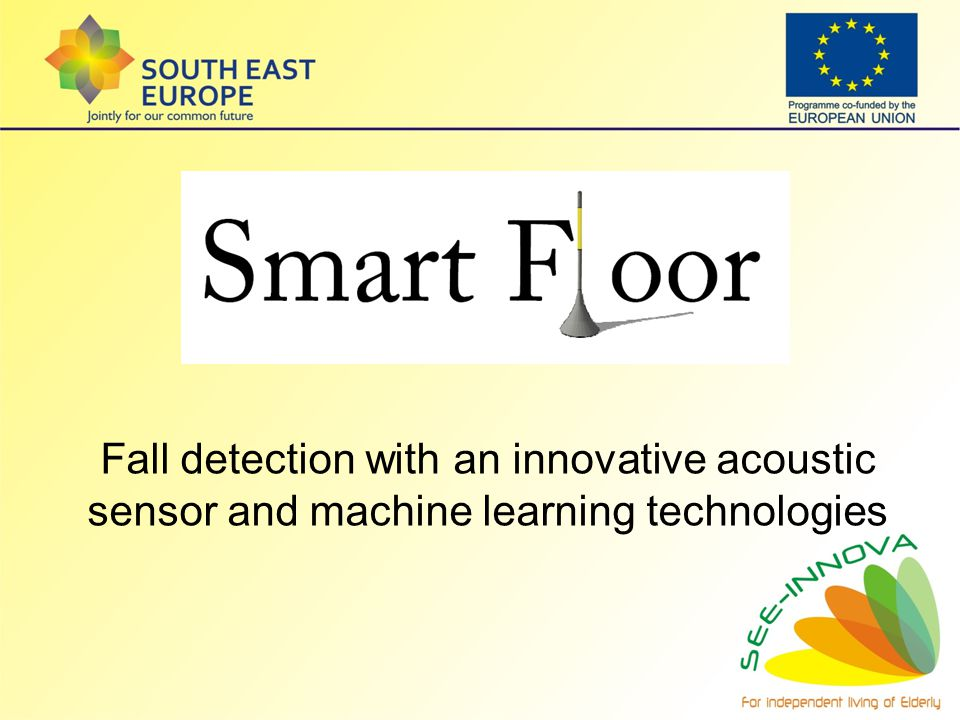 Fall detection with an innovative acoustic sensor and machine learning technologies