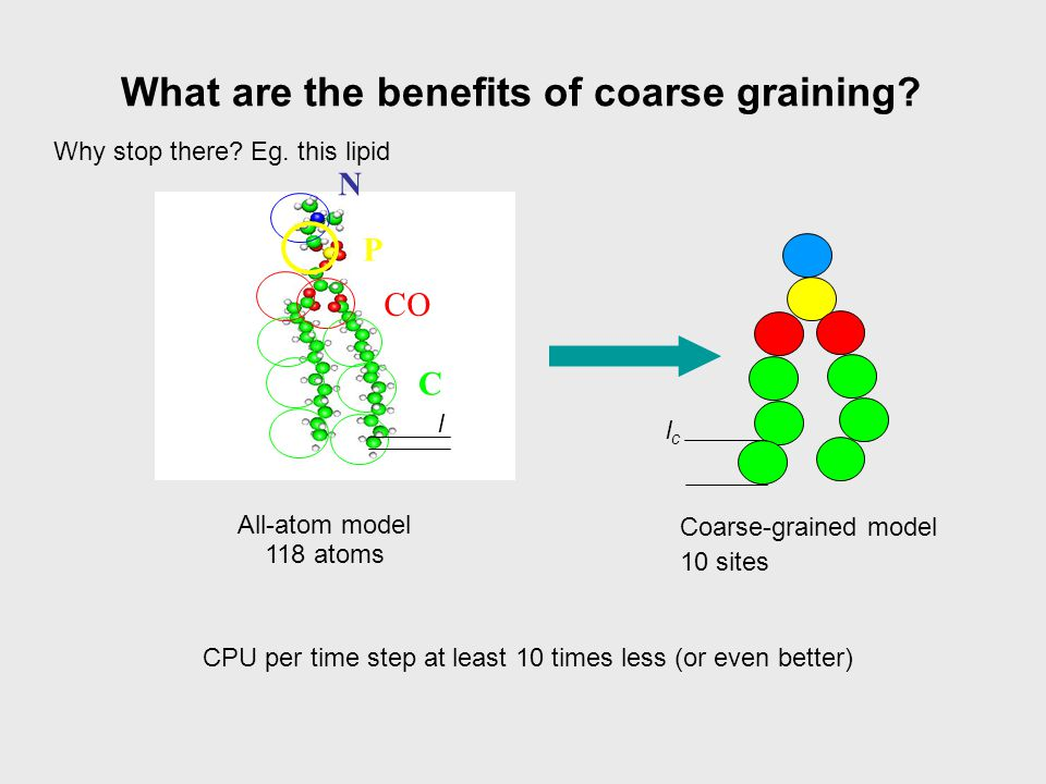 What are the benefits of coarse graining.