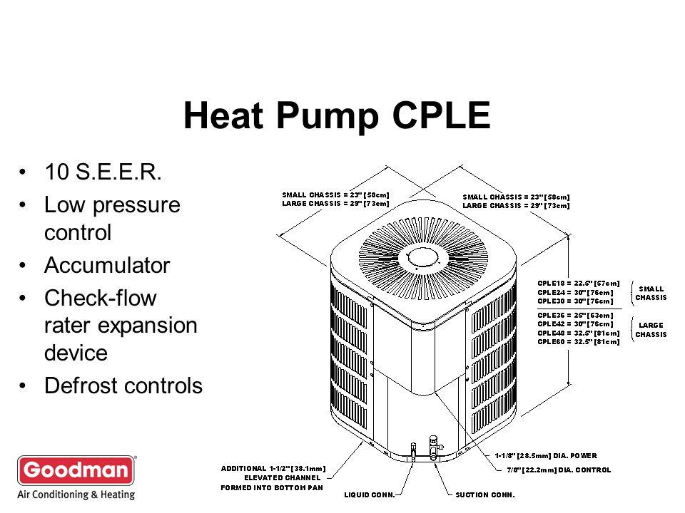 Heat Pump CPLE 10 S.E.E.R.