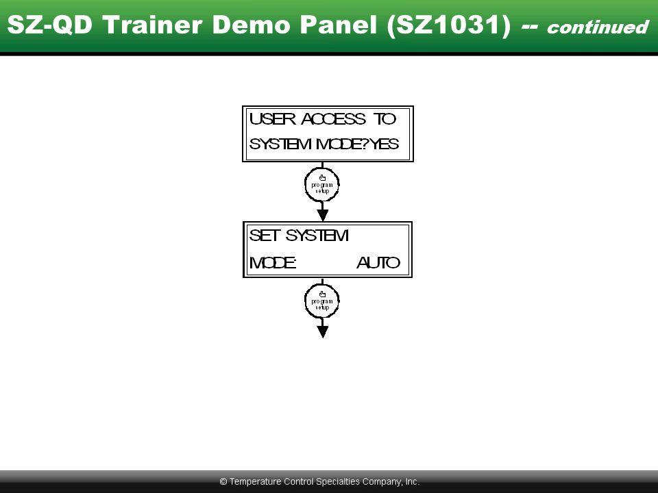 SZ-QD Trainer Demo Panel (SZ1031) -- continued