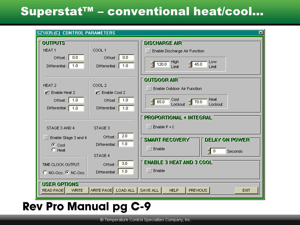 Superstat™ – conventional heat/cool… Rev Pro Manual pg C-9