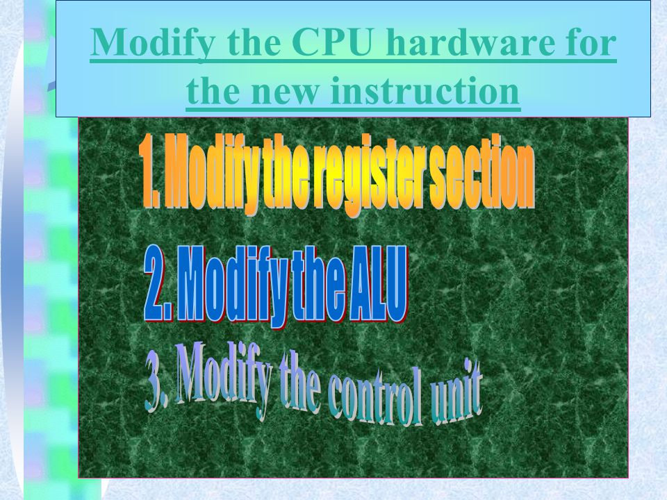 The modification the state diagram for the CPU