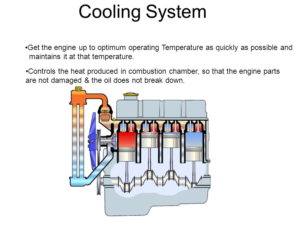 Cooling System Radiator Pressure cap seals the cooling system and pressurize it.