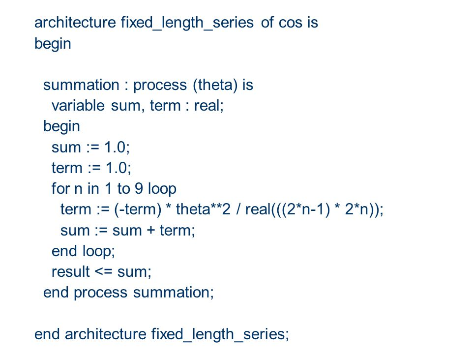 Sequential Statement- assertion Assertion statements can be used to verify if a design functions correctly Assert statements are particularly useful for debugging.