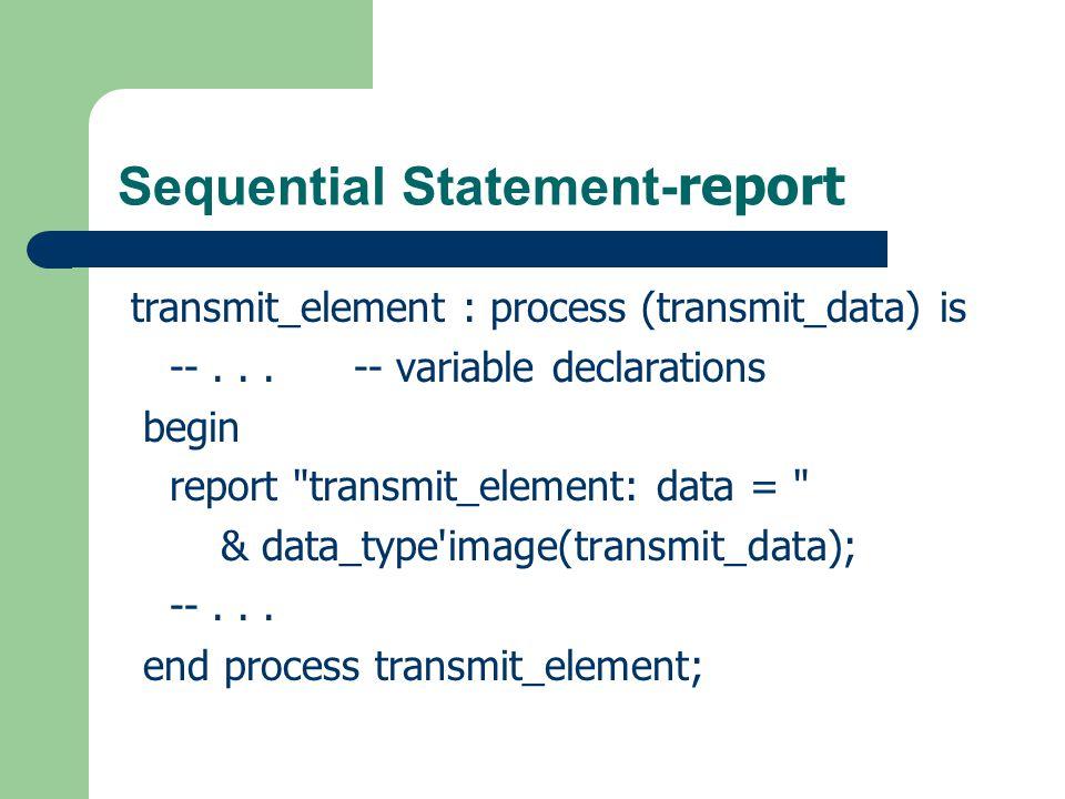 Naming Rule Entity names: RegisterBank Architecture names: BehaviorModel Process Names: StoreAndCheck Constants, Labels: CONTROL_SECTION Function/procedure names: getMaxValue() Variables and signals: returnValue Keyword: ENTITY...