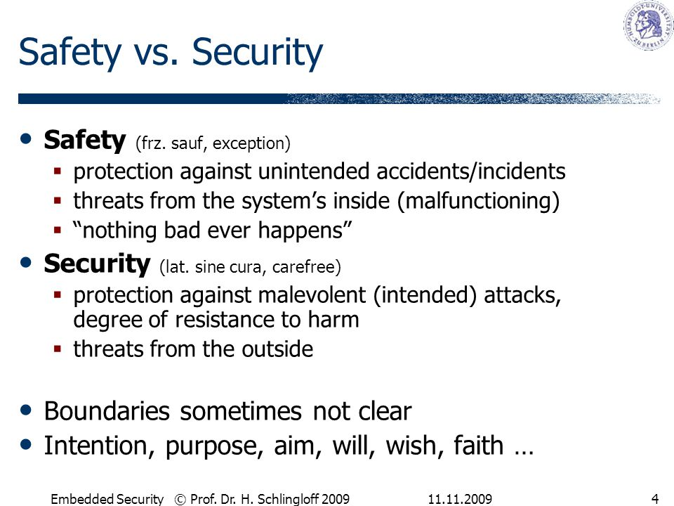 11.11.2009Embedded Security © Prof.Dr. H.
